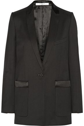 GIVENCHY Satin-trimmed wool-twill tuxedo jacket