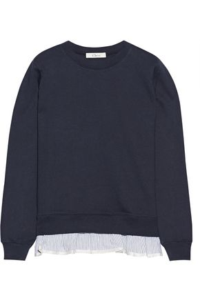 CLU Ruffle-trimmed French cotton-terry sweatshirt