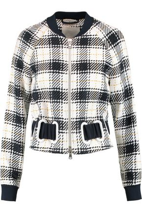 3.1 PHILLIP LIM Surf eyelet-embellished checked twill bomber jacket