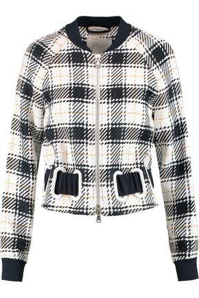 3.1 PHILLIP LIM Surf eyelet-embellished checked twill bomber jacket