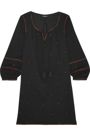 MADEWELL Kristen metallic embroidered woven mini dress