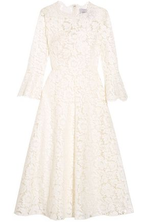VALENTINO Corded stretch-silk guipure lace dress