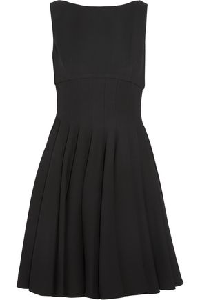 MIU MIU Pleated cady mini dress