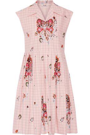 MIU MIU Embellished cotton-jacquard dress