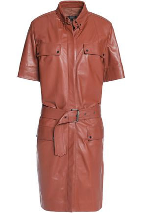 BELSTAFF Ryton belted leather dress