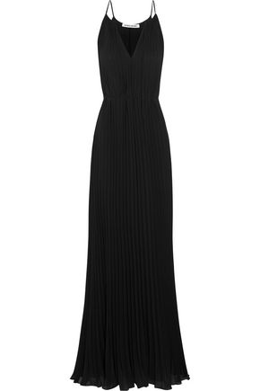 ELIZABETH AND JAMES Pleated chiffon gown