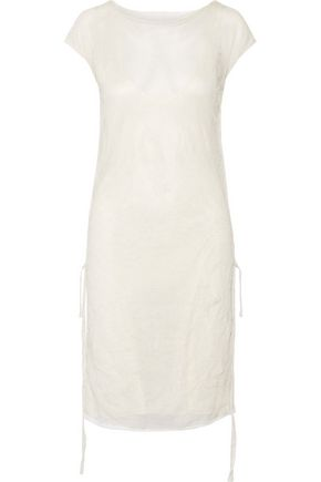 BARBARA CASASOLA Ribbed silk-blend dress