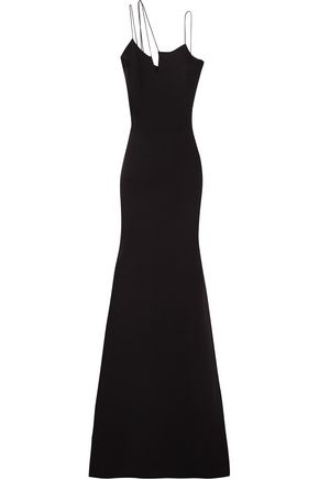 VICTORIA BECKHAM Asymmetric silk and wool-blend crepe gown