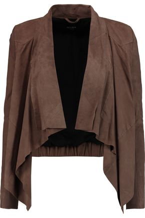 MUUBAA Chester draped suede jacket