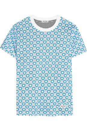 MIU MIU Printed jersey T-shirt