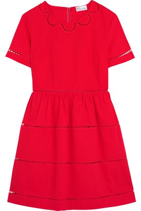 REDValentino Embroidered cotton mini dress