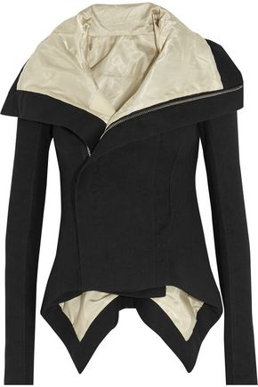 RICK OWENS Naska asymmetric wool and linen-blend jacket