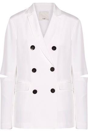 TIBI Cutout silk crepe de chine blazer