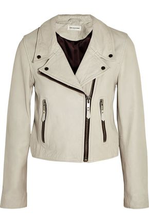 ISABEL MARANT ÉTOILE Aken washed-leather biker jacket