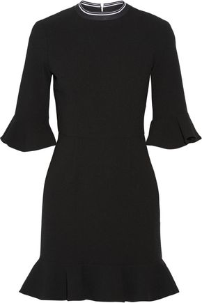 REBECCA VALLANCE Billie ruffled stretch-crepe mini dress
