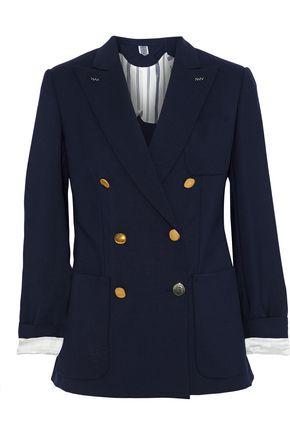 MAX MARA Wool and mohair-blend blazer