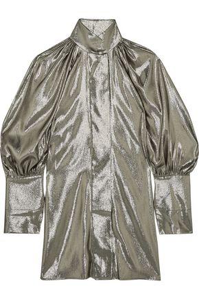 ELLERY Witch Doctor silk-blend lamé mini dress