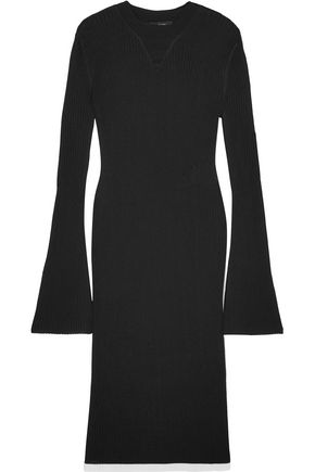 ELLERY Ribbed-knit midi dress