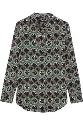 KATE MOSS EQUIPMENT Slim Signature printed washed-silk shirt