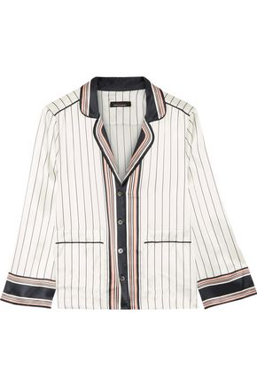 KATE MOSS EQUIPMENT Striped silk-satin top