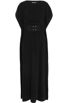 MM6 MAISON MARGIELA Belted crepe maxi dress