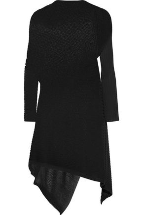 MARQUES ' ALMEIDA Asymmetric ribbed open-knit dress