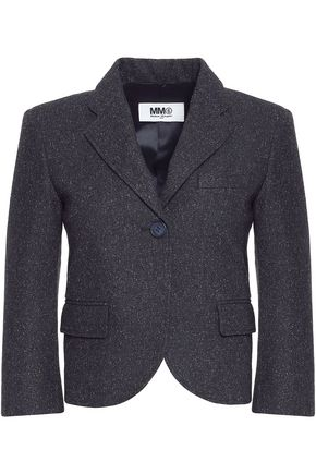 MM6 MAISON MARGIELA Cropped slub knitted jacket
