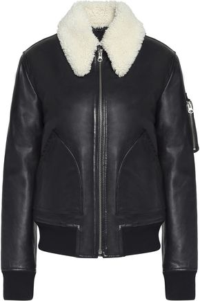 MM6 MAISON MARGIELA Shearling-trimmed leather jacket
