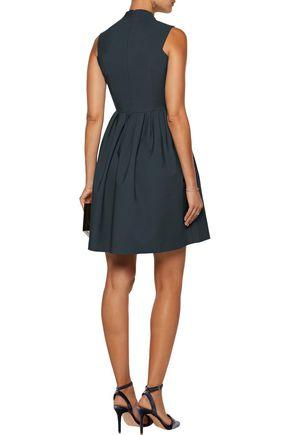 RAOUL Amandine wrap-effect pleated cotton-blend mini dress