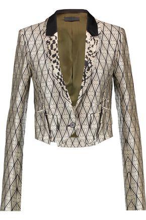 HAIDER ACKERMANN Cropped silk-blend jacquard blazer