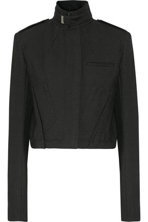 HAIDER ACKERMANN Brushed wool-twill biker jacket