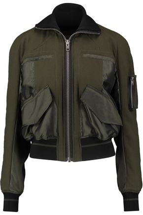 HAIDER ACKERMANN Satin-paneled wool jacket