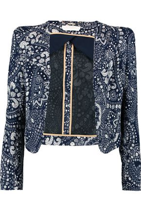 CHLOÉ Cropped printed gauze jacket