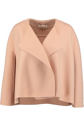 CHLOÉ Draped wool and cashmere-blend jacket