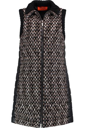 MISSONI Crochet-knit and quilted shell gilet
