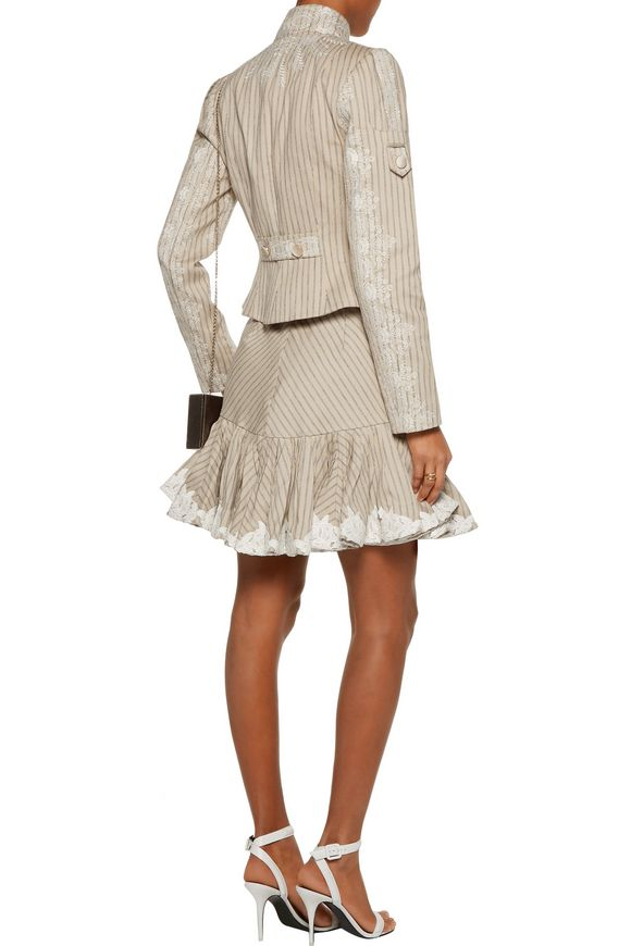 Master Adorn embroidered striped-twill jacket | ZIMMERMANN | Sale up to 70%  off | THE OUTNET