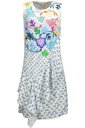 PETER PILOTTO Ruffle-trimmed printed jersey dress