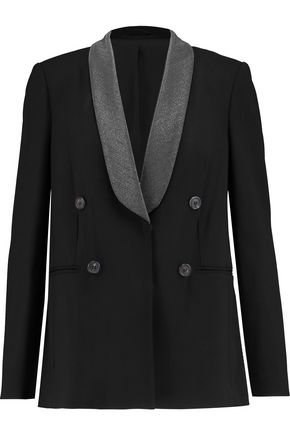 BRUNELLO CUCINELLI Embellished wool-blend crepe jacket