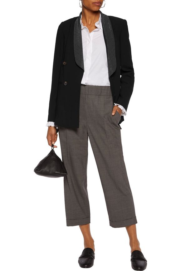 Embellished wool-blend crepe jacket | BRUNELLO CUCINELLI | Sale up to 70%  off | THE OUTNET