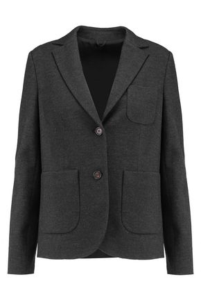 BRUNELLO CUCINELLI Wool and cotton-blend blazer