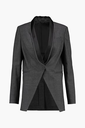 BRUNELLO CUCINELLI Embellished wool and cotton-blend blazer