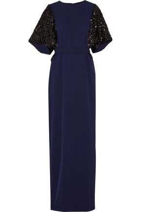 BY MALENE BIRGER Sparkle sequin-paneled cady maxi dress