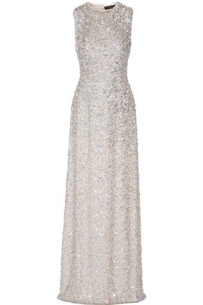 JENNY PACKHAM Sequined silk gown