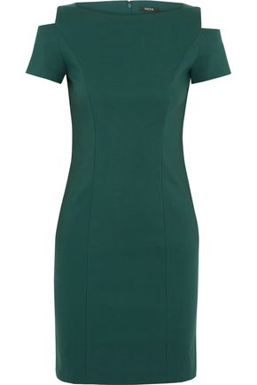RAOUL Cold-shoulder cotton-blend twill dress