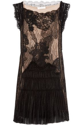 CHLOÉ Corded lace mini dress