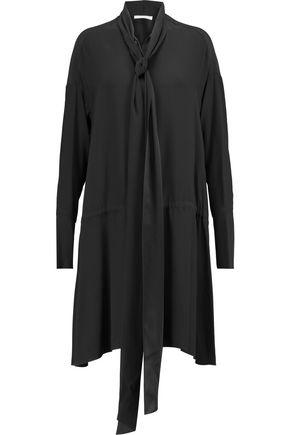 CHLOÉ Pussy-bow silk crepe de chine dress