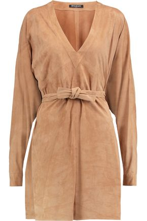 BALMAIN Suede dress