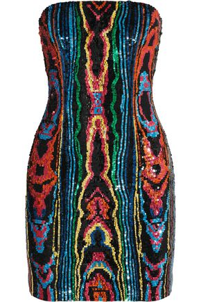 BALMAIN Sequin-embellished cady dress