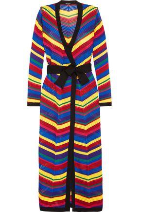 BALMAIN Crocheted maxi wrap dress