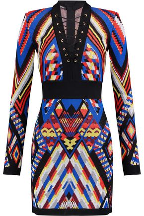BALMAIN Jacquard mini dress